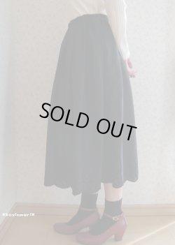 画像1: 女子力マシマシ♪スカラップスカート(ブラック)
