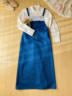 画像1: 愛らしレースのサロペスカート